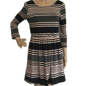 LOVE REIGN Striped Knit Skater Fit & Flare Dress M